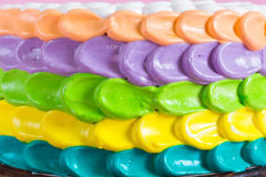 Colorful cream cake Stock Images