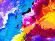 Colorful creative abstract hand painted background, texture, acr. Colorful creative abstract hand painted background, wallpaper, texture, close-up of acrylic Royalty Free Stock Images