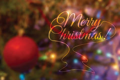 Colorful creative blurry Christmas Stock Photography