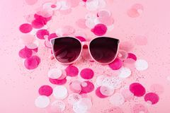 Colorful, creative closeup background with glasses stock photos