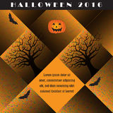 A colorful creative Halloween background Royalty Free Stock Photo