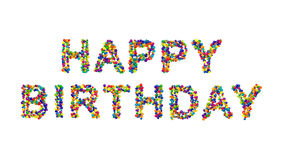 Colorful creative Happy Birthday card design Royalty Free Stock Images