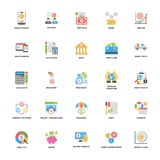 Banking and Finance Icons Set. The is a colorful and creative pack based on the theme of banking and finance. The elements in the set portray financial, money Royalty Free Stock Image