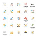 Bitcoin and Cryptocurrency Icons Pack. The is a colorful and creative pack based on the theme of banking and finance. The elements in the set portray financial Stock Images