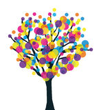 Colorful creative prolific tree. Abstract life metaphor Stock Images