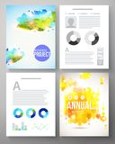 Colorful creative template for a company project Royalty Free Stock Photos