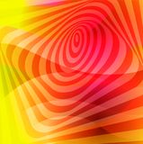 Colorful creative twisted abstract background with colorful distorted wavy lines. Optical illusion effect. Decorative design textu. Colorful creative twisted vector illustration