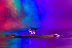 Colorful and Creative Water Drop Creations Stock Photography