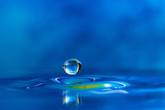 Colorful and Creative Water Drop Creations Royalty Free Stock Images