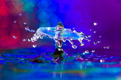 Colorful and Creative Water Drop Creations Royalty Free Stock Image