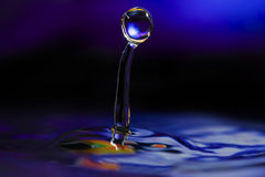 Colorful and Creative Water Drop Creations Stock Images