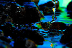 Colorful and Creative Water Drop Landscapes Stock Images