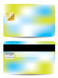 Colorful credit card design template Stock Image