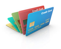 Colorful credit card Royalty Free Stock Images