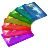 Colorful credit cards Royalty Free Stock Photo