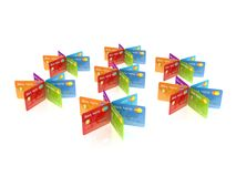 Colorful credit cards. Stock Image