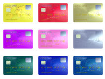 Colorful credit cards Royalty Free Stock Image