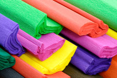 Colorful crepe paper. Colorful rolls of crepe paper royalty free stock image