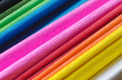 Colorful crepe paper Stock Images