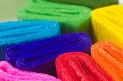 Colorful crepe paper Stock Photography