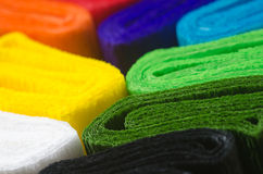 Colorful crepe paper Royalty Free Stock Images