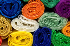 Colorful crepe papers Royalty Free Stock Photo