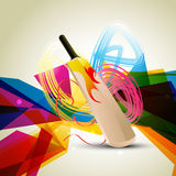 Colorful cricket background. Colorful abstract cricket background design Stock Photo