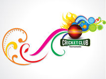 Colorful cricket background with magical wave Royalty Free Stock Photo