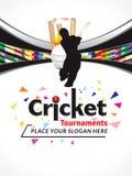 Colorful Cricket Tournament Banner Design Template Stock Photo
