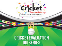 Colorful Cricket Tournament Banner Design Template  Royalty Free Stock Images