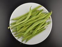 Common bean on plate Stock Photos