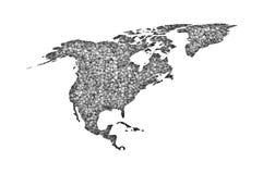 Map of North America on poppy seeds stock illustration