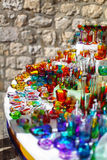 Colorful croatian souvenir from glass stock photo