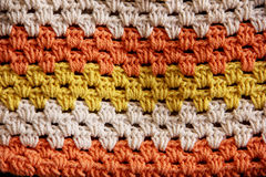 Colorful crochet background Royalty Free Stock Photography