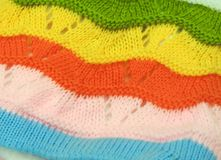 Colorful crochet Stock Images