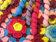 Colorful crochet Stock Photography