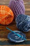 Colorful crochet potholders Royalty Free Stock Image