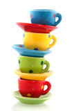 Colorful crockery Stock Image