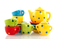 Colorful crockery Royalty Free Stock Images
