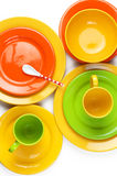 Colorful crockery Stock Image