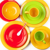 Colorful crockery Royalty Free Stock Image