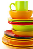 Colorful crockery Stock Images