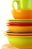 Colorful crockery Royalty Free Stock Image
