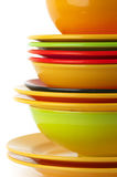 Colorful crockery Stock Photography