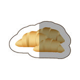 Colorful croissant bread icon. Illustraction design image Royalty Free Stock Photography