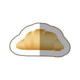 Colorful croissant bread icon. Illustraction design image Stock Photo