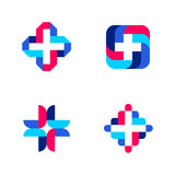 Colorful cross. Abstract medical logo templates or icons Royalty Free Stock Image