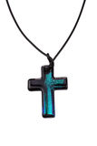 Colorful cross with black lanyard Stock Photo