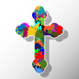 Colorful cross Royalty Free Stock Photos