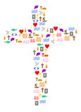 Colorful cross Royalty Free Stock Images